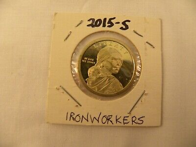 2015-S Ironworkers Native American Golden Dollar Coin (Circulated Proof)