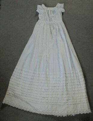 Victorian Baby Dress - Christening,Cotton, Hand Worked Broderie Anglaise Lace