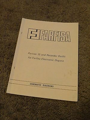 FARFISA ELECTRONIC ORGAN Partner 15 Recorder Outfit ... on