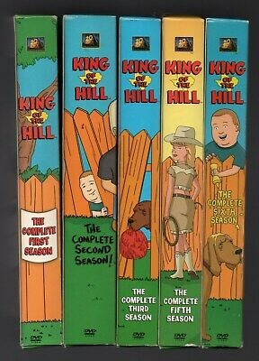King of the Hill: The Complete series Seasons 1,2,3,5,6 (DVD) box sets 16 discs