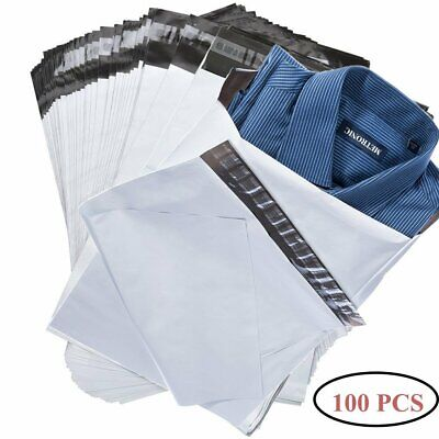 100 Pcs 6x9 White Poly Mailers 2.5 Mil Envelopes Self Sealing Strip Shipping Bag