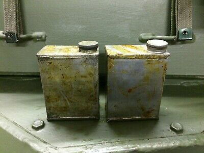 DAIMLER FERRET and SARACEN - MG TURRET OIL BOTTLES, CANS X2, Also suit Vickers