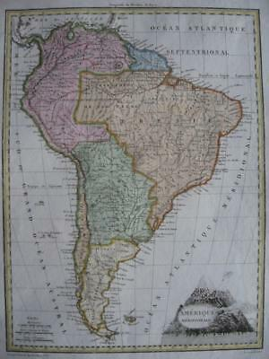 1812  LAPIE - NICE map SOUTH AMERICA