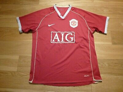 Mens Nike Manchester United Home football shirt 2006 - 2007 Size M