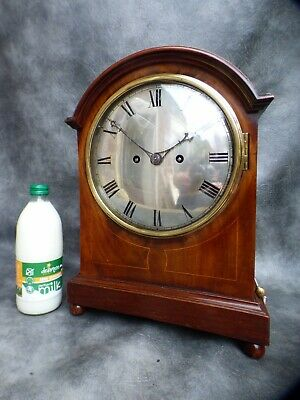 A Good Mahogany Cased Double Fusee 3/4 Westminster Chimes On Gongs Mantle Clock