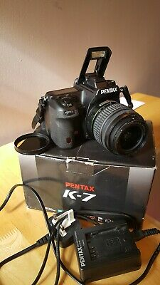 Pentax K K-7 14.6MP Digital SLR Camera - Black (Kit w/ DA 18-55mm WR and...