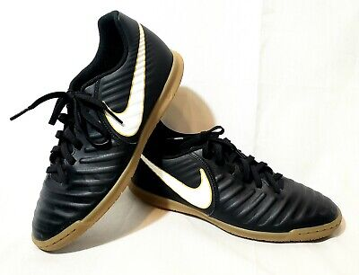 15645cc43107 Nike Tiempox Rio Iv Ic Indoor Soccer Shoes Black White (897769 002) Sz 7