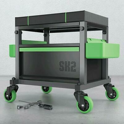 MYCHANIC Utility Stool with Removable Tool Caddy Workshop Garage Stool