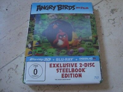 ANGRY BIRDS 2disc 3D Blu-Ray SteelBook lenticular magnet cover NEW&SEALED