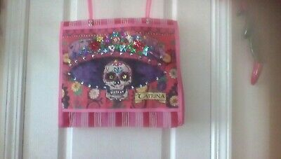 Day Of The Dead And Frida Khalo Decorated Mesh Bag. Each. Free Standard Shipping