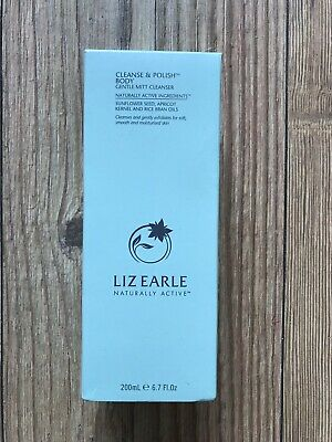 Liz Earle Cleanse and Polish Body. Gentle Mitt Cleanser. 200ml With Mitt. New