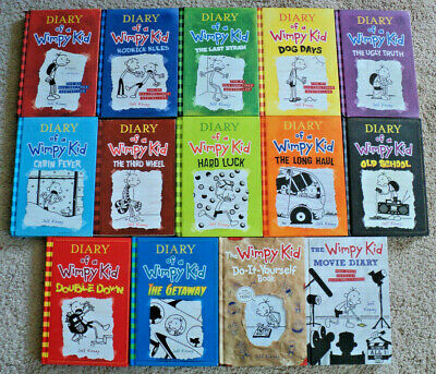 Lot of 14 DIARY OF A WIMPY KID Hardcover Books (Set of 12 + 2 Companion Books)