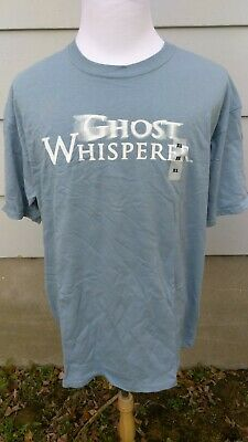 Ghost Whisperer Light Blue Logo CBS T Shirt Tee $20 MRSP NEW