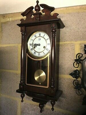 Vintage Hw mahogony 31 day wall clock fullyworking