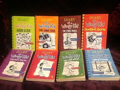 Eight Diary Of A Wimpy Kid Novels By Jeff Kinney