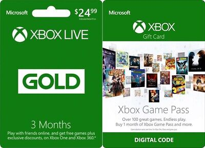 🔑3 Month Xbox Live Gold REGION FREE! + BONUS! 100+ GAMES with GAME PASS 1 Month