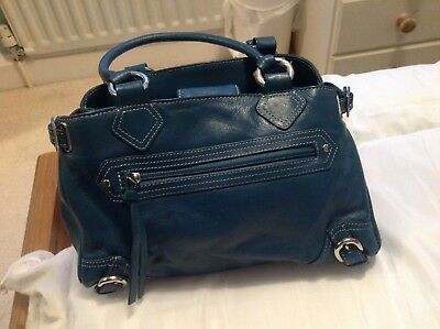 Tommy And Kate Teal Leather Handbag