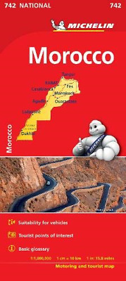 Morocco - Michelin National Map 742: Map Michelin National Maps
