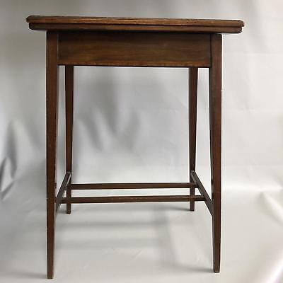 Small Antique Edwardian Mahogany Inlaid Swivel & Fold Over Card Or Games Table