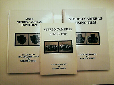 3x Werner Weiser Stereo Cameras / 2x Using Film / 1x More Using / 1x since 1930