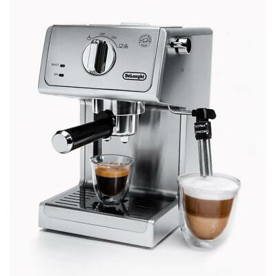 DeLonghi Espresso Cappuccino Coffee Maker Machine Milk Frother Stainless Steel