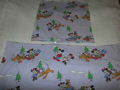 Disney Bettwäsche vintage 80er Mickey Minnie Mouse bedding fabric 80s Micky Maus