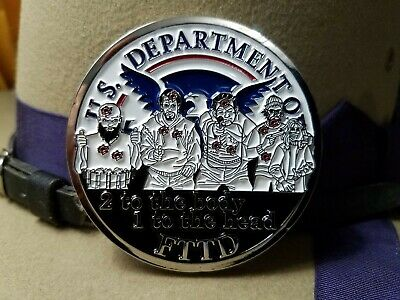 CBP Nation US Custom & Border 2 to the body 1 to the head challenge coin