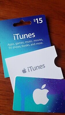 Apple Store iTunes Gift Card - Value $15 USD