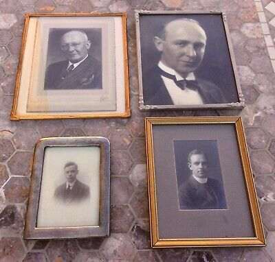 Lot Antique Vintage Art Deco Photo Frames,sterling Silver,original Old Pictures