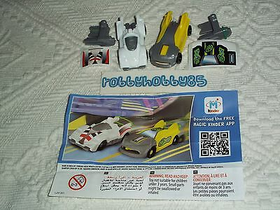 Serie Completa Elastic Cars Fs531 - Fs532 + 2 Bpz India Kinder Joy 2015/2016