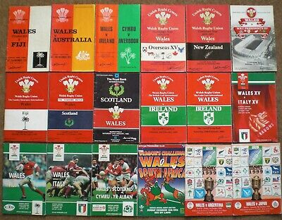WALES RUGBY UNION MIXED PROGRAMMES COLLECTION Rare Welsh Memorabilia Job Lot