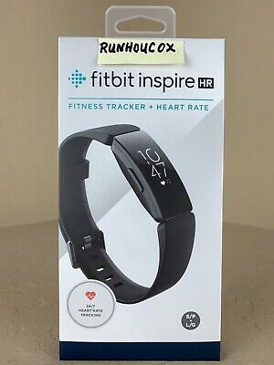 Fitbit Inspire HR Fitness Tracker Black, Small & Large Bands Included,NEW IN BOX