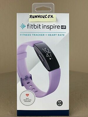 Fitbit Inspire HR Fitness Tracker Lilac, Small & Large Bands Included,NEW IN BOX