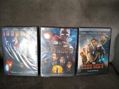 Iron Man 1 2 3 Trilogy 3 Marvel Movie Collection DVD - BRAND NEW / SEALED