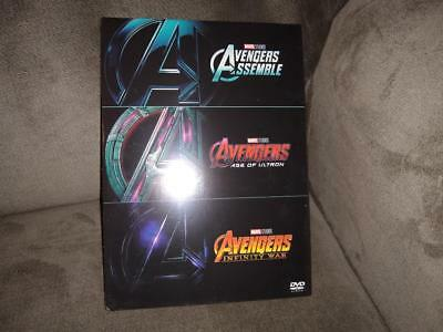 Avengers Trilogy Collection 3 DVD Movies - Assemble, Age of Ultron, Infinity War