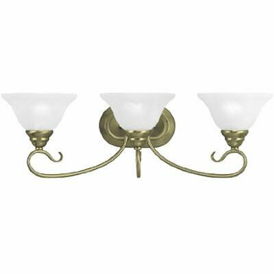 6103-01 Coronado Bath Light, Antique Brass Vanity Lighting Fixtures