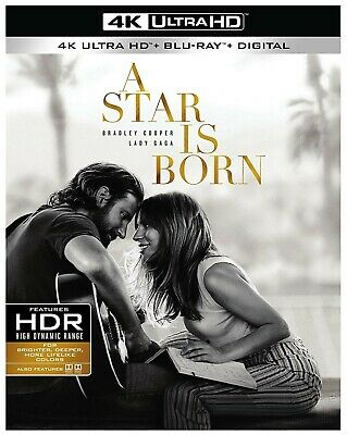 A Star Is Born DVD (2018) New Release on 2/19-Drama/Romance/ 4k Used