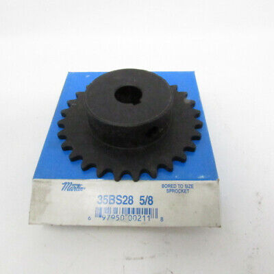 Martin Bored to Size 5/8 to 1-1/4 in 35 Chain 28 tooth Gear Sprocket 35BS28 5/8