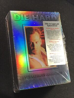 DIE HARD 1, 2, & 3 Ultimate Widescreen Collection 6-DVD Box Set, mint!
