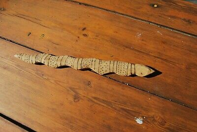 Aboriginal carved SNAKE Totem figure - OLD handicraft item Central Australia