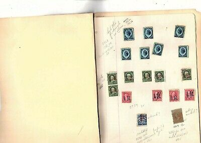 US Revenue Stamps  54 stamps back of book  (mb9