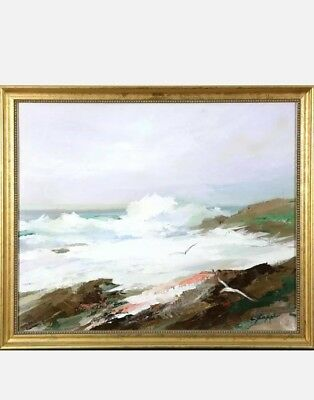 Charles Gruppe Seascape Painting Original Oil/Canvas