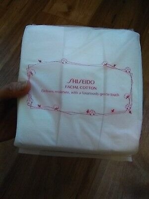 NEW! SHISEIDO FACIAL COTTON 165 Sheets Made in Japan, delivers moisture