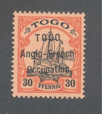 """Germany - Togo British Protectorate #40 Anglo-French Occupation  VF NH """"Signed"""""""