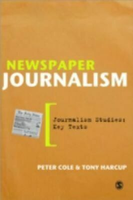 NEW Newspaper Journalism By Peter Cole Paperback Free Shipping