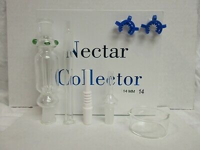14Mm Nectar Collector- Ceramic & Quartz Tips/ 2 Clips *free Same Day Shipping*
