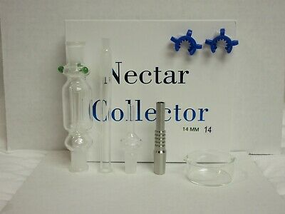 14Mm Nectar Collector- Titanium & Quartz Tips/ 2 Clips *free Same Day Shipping*