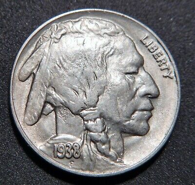 1938-D/D Indian Head BUFFALO NICKEL Gorgeous MS Uncirculated Coin