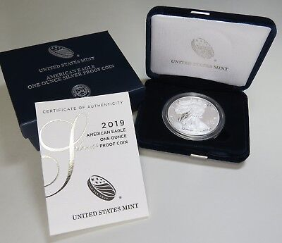 2019-W AMERICAN SILVER EAGLE PROOF w/BOX+COA BRAND NEW ~ ON HAND READY TO SHIP!