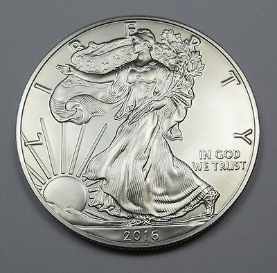 2016 1 oz. AMERICAN SILVER EAGLE BU (BRILLIANT UNC.) 99.9% PURE SILVER ~ LOT A09